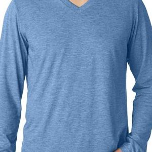 3425 Bella+Canvas Men's Tri-Blend Long-Sleeve V-Neck Tee