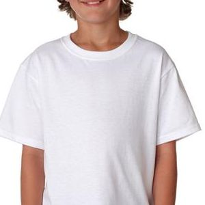 3930B Fruit of the Loom Youth Heavy Cotton HDTM T-Shirt  - 3930B-White