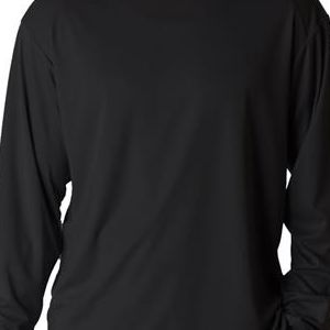 4104 Badger Adult B-Dry Core Long-Sleeve Performance Tee  - 4104-Black