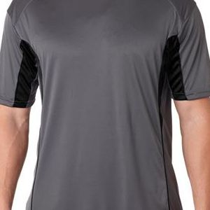 4147 Badger Adult Drive Performance Tee with Contrast Panels  - 4147-Graphite/ Black