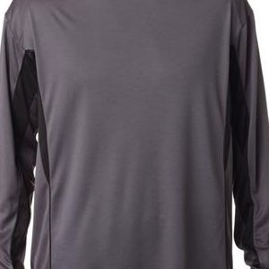 4157 Badger Adult Drive Long-Sleeve Performance Tee  - 4157-Graphite/ Black