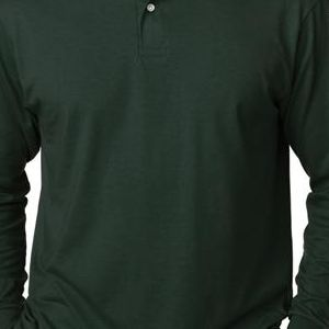 437ML Jerzees Adult Long-Sleeve 50/50 Jersey Polo with SpotShield®  - 437L-Forest Green