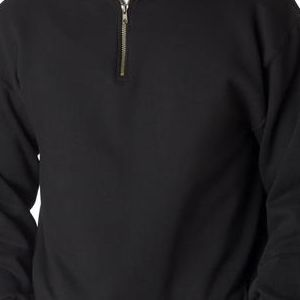 4528 Jerzees Adult Super Sweats® 1/4-Zip Cadet Collar Sweatshirt  - 4528-Black