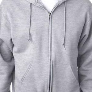 4999 Jerzees Adult Super Sweats® Full-Zip Hooded Sweatshirt  - 4999-Ash (50/50)