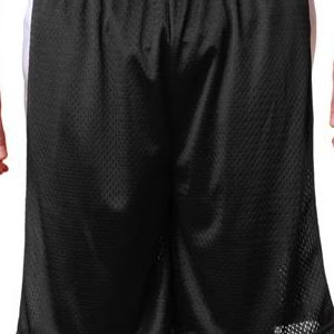 7241 Badger Adult Challenger Poly Mesh 9-inch Shorts  - 7241-Black/ White