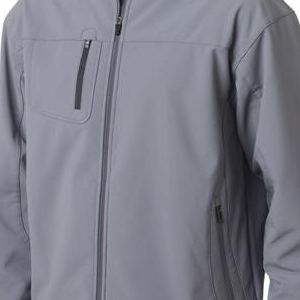 8280 UltraClub® Adult Polyester Soft Shell Jacket with Cadet Collar  - 8280-Medium Grey