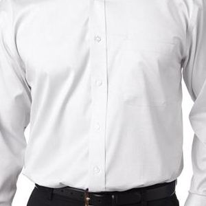 8380 UltraClub® Men's Non-Iron Cotton Pinpoint Woven Shirt  - 8380-White