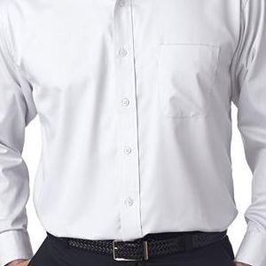 8991 UltraClub® Men's Whisper Elite Twill Blend Woven Shirt  - 8991-White