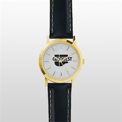 Gold Union Watch with Leather Band