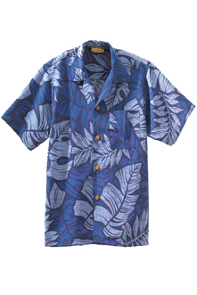 SOUTH SEAS LEAF PRINT CAMP SHIRT
