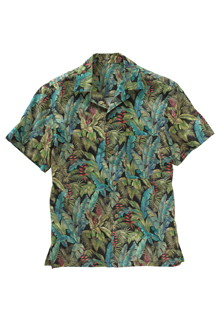 TROPICAL LEAF CAMP SHIRT