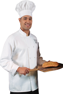 CLASSIC 10 KNOT BUTTON CHEF COAT