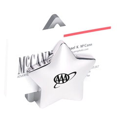 Metal Star Business Card Holder