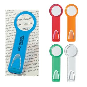"Plastic 2"" Ruler With Circular Magnifying Glass"