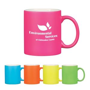 11 Oz . Neon Mug With C-Handle -