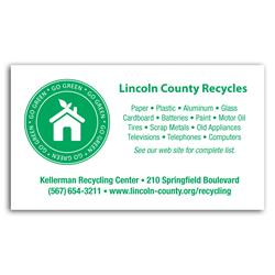 Go Green Business Card - Recycled Paper Items