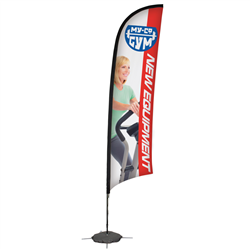 13' Razor Sail Sign Kit Single-Sided w/Scissor Base -