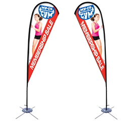 11.5' Tear Drop Sail Sign Kit Double-Sided w/Scissor Base -