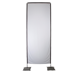 14' Tribute Indoor Fabric Display Hardware (Scissor Bases,Poles,Soft Cases) -