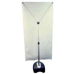 "Four Season Glider Display Hardware Only - ""All-weather"" display...Watch your message smoothly glide in the wind Innovative cable assembly ensures banner will not bow in the windBallast base can be filled with sand or waterTwist-lock telescoping pole accepts banners from 24"" to 40"" wide and 60"" to 78"" high"