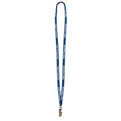 "3/8"" Lanyard with Bulldog Clip and Bead (1-Color Imprint) -"