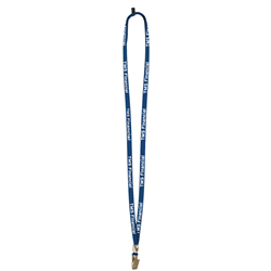 "3/8"" Lanyard with Velcro Breakaway, Bulldog Clip and Bead (1-Color Imprint) -"