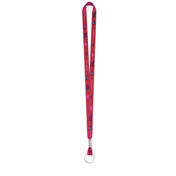 "1/2"" Deluxe Lanyard w Split Ring (Full-Color, 2-Sided) - Lanyards"