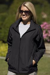 Women's Full-Zip Lightweight Hooded Jacket - Women's Full-Zip Lightweight Hooded Jacket